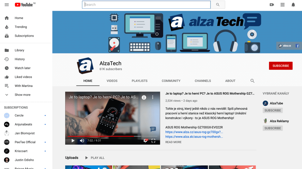 Trendom predaja je youtube kanál