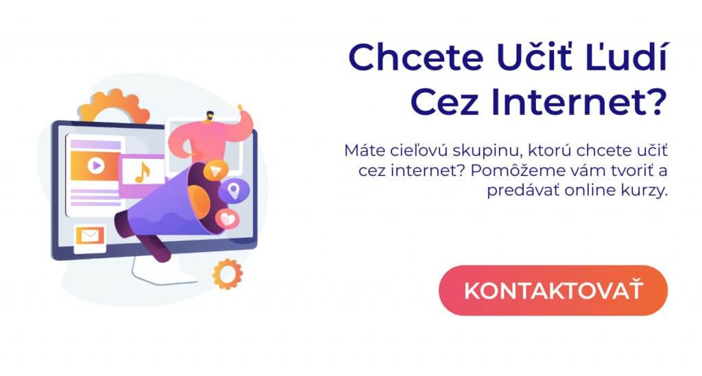 chcem vzdelávať online pop up