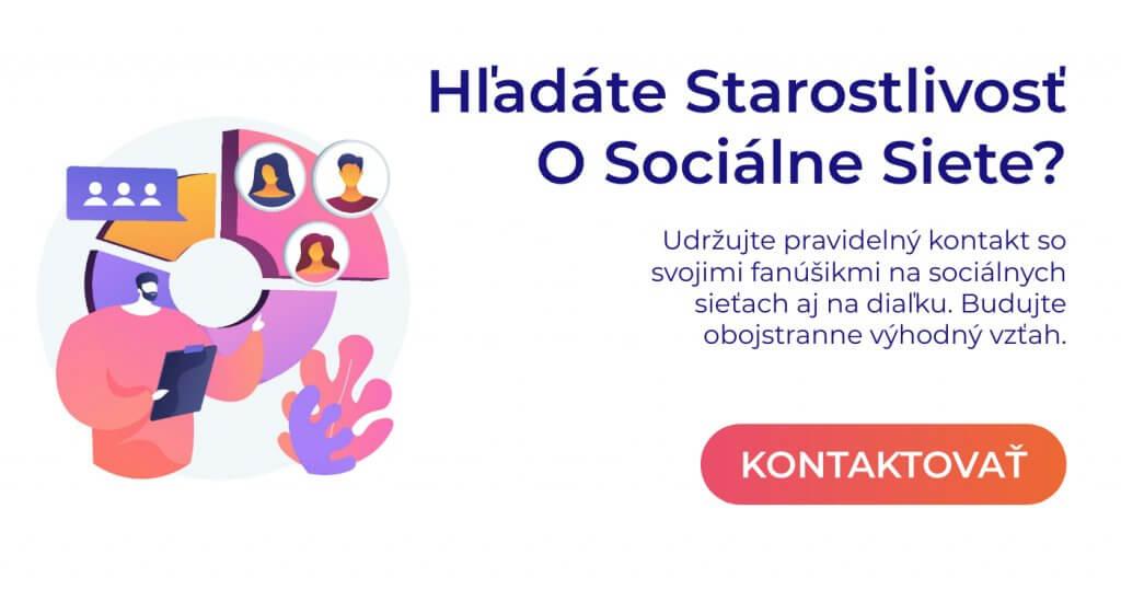 komplexná starostlivosť o sociálne siete pop up
