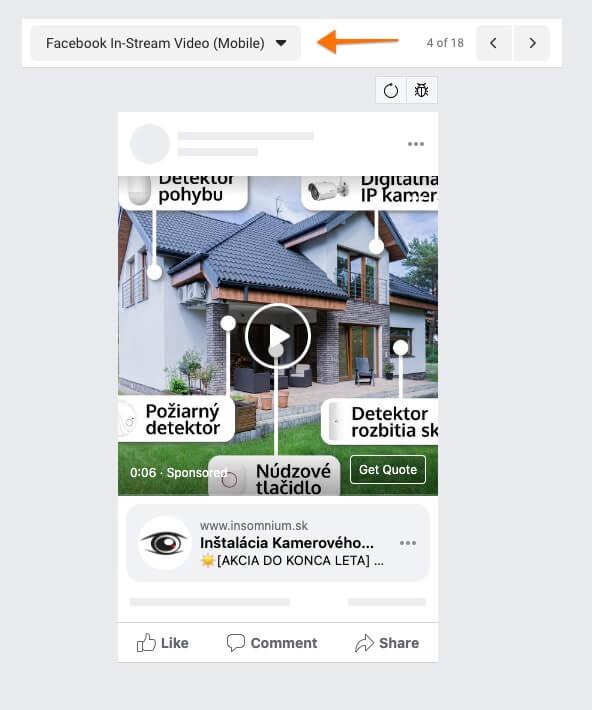 facebook in stream video mobile