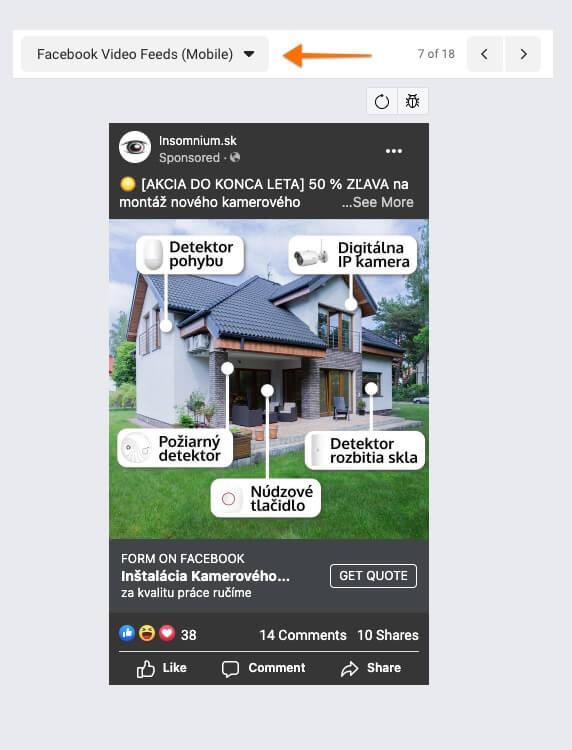 facebook video nástenka mobil