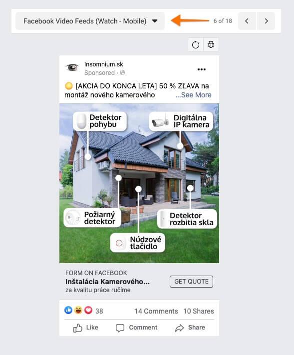 facebook video nástenka - video mobil