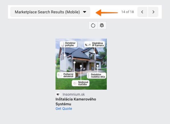 market place výsledky vyhľadávania - mobil